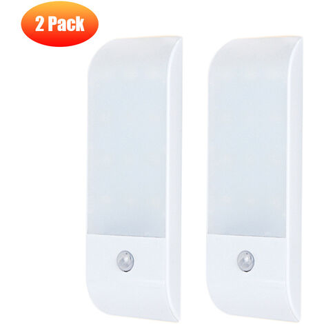 """main image of """"DC5 V 1W I-ntelligent S-mart 12 L-ED Cabinet Lamp Adopted PIR Motion Inductor Sensor Sensing Light Control 3 Lighting Working Modes with USB C-harging Port Built-in 600mAh High Capacity Rechargeabe Batter-y for Living Room Bedroom Cupboard Wardrobe Asile"""""""