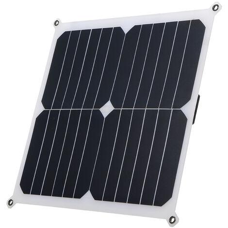 DC6V 14W IP66 Resistencia al agua Diseno delgado Energia solar Panel solar Bateria recargable portatil al aire libre con doble puerto USB Cargador multiuso para dispositivos USB / Celular / Tableta / Pad / Banco de energia