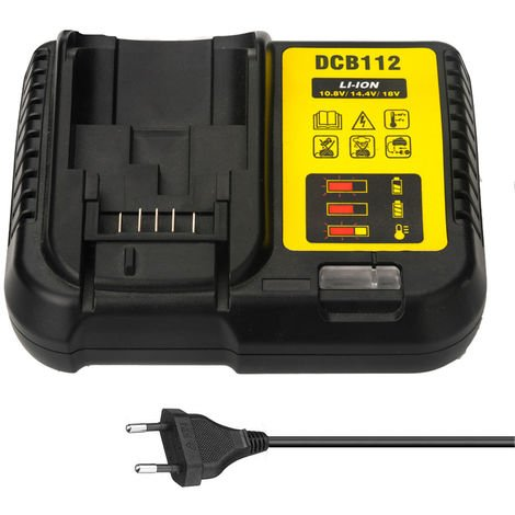 DCB112 Replacement Li-Ion Battery Charger for Dewalt 12V 14.4V 18V Lithium Cells