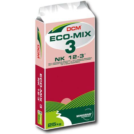 DCM Profi Eco Mix 3 engrais 25 kg bio, légumes, fruits, pépinière, gazon, plantes, sport