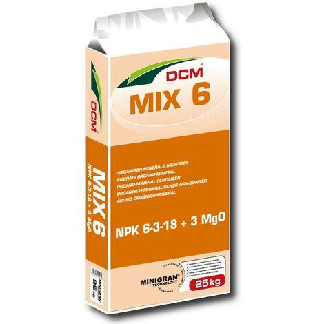 DCM Profi engrais universel Mix 6 25 kg engrais pour fleurs, engrais pour plantes, engrais pour gazon