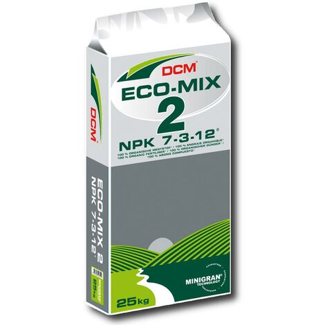 DCM Profi Öko Mix 2 25 kg engrais organique, écologique, engrais pour légumes, engrais pour gazon, engrais pour fruits
