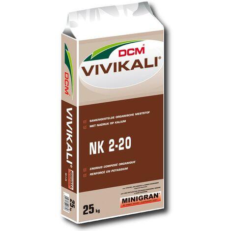 DCM Vivikali® engrais organique 25 kg engrais potassique, engrais pour légumes, engrais d'automne pour gazon ÖKO