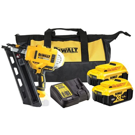 DCN692P2 Cordless XR 2 Speed First Fix Nailer 90mm 18V 2 x 5,0Ah Li-Ion (DEWDCN692P2)