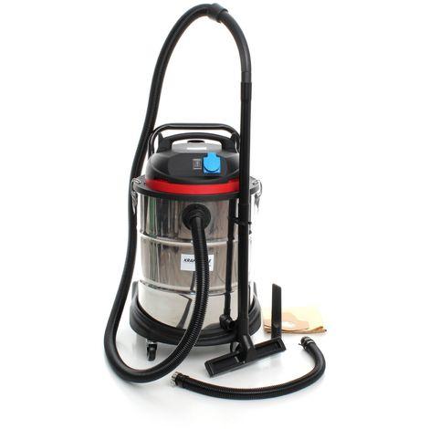 DCRAFT | Aspirateur eaux et poussières 1400W cuve 50L Fonction soufflerie | Aspirateur industriel de chantier atelier professionnel | Argent - Argent