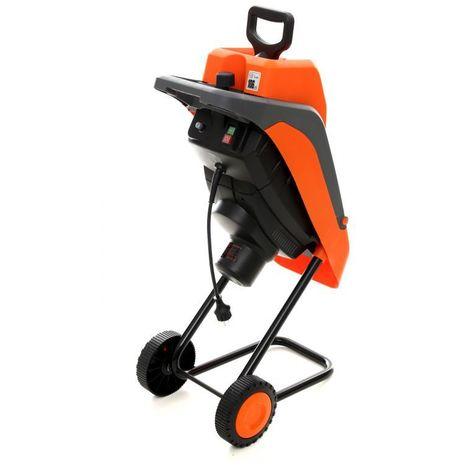 DCRAFT | Broyeur de végétaux | Moteur éléctrique Puissance nominale 2800W | Doubles couteaux | Outillage jardin pelouse | Orange - Orange