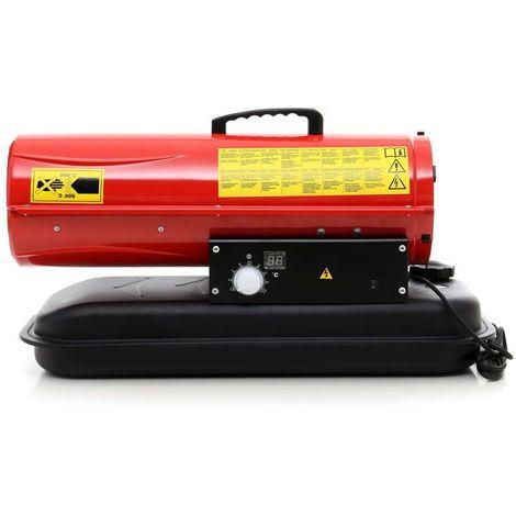 DCRAFT | Canon à air chaud fiuol/diesel 25kW | Canon à chaleur de chantier | Chauffage manuel diesel/fioul pour atelier | économique | Rouge