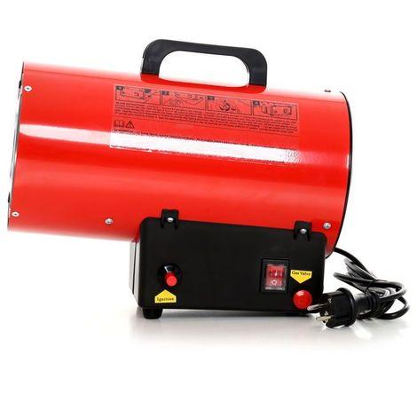 DCRAFT | Canon à air chaud gaz propane/butane 20kW | Canon à chaleur de chantier | Chauffage manuel au gaz pour atelier | économique | Rouge