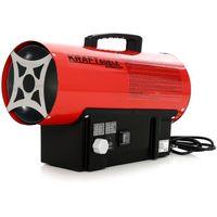 DCRAFT | Canon à air chaud gaz propane/butane 20kW | Canon à chaleur de chantier | Chauffage manuel au gaz pour atelier économique | Rouge