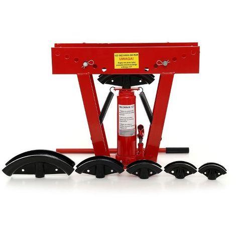 DCRAFT | Cintreuse hydraulique en acier 12T | Presse à cintrer | Cintreuse tube | Outil garage/bricolage/plomberie/chantier - Rouge