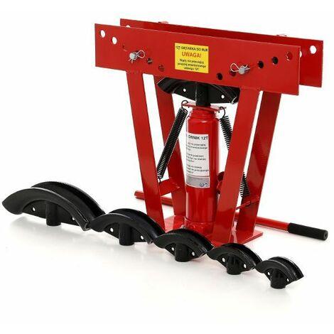 DCRAFT - Cintreuse pour tube - Capacité de 16 T - 63 x 58 x 11,5 cm - Cintreuse hydraulique - Rouge