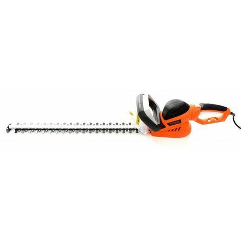 DCRAFT - Cisailles à haies électrique - Puissance 1600W - Distance entre lames 20 mm - Outillage électrique jardinage - Orange