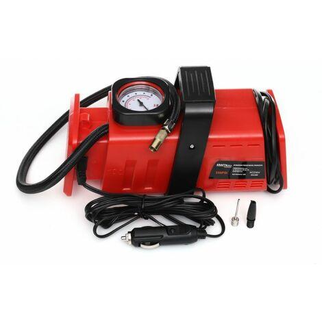 DCRAFT - Compresseur automobile - Puissance moteur 98W - Capacité 20L - Pression 200PSI - Manomètre - Rouge