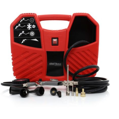 DCRAFT | Compresseur compact | Puissance 1100W | Vitesse maximale 15000 rpm / min | Outillage garage chantier atelier | Rouge - Rouge