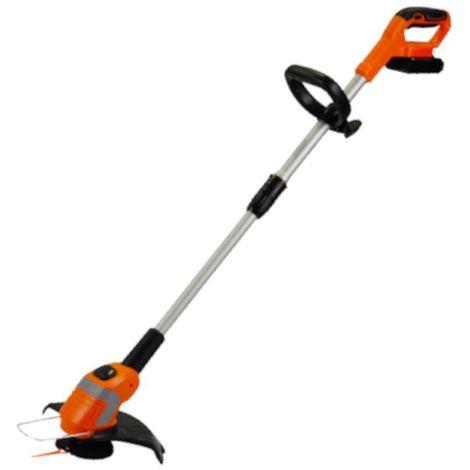 DCRAFT | Coupe bordure électrique sans fil | Batterie 2000mAh | Débroussailleuse pelouse gazon | Largeur de travail 230 mm - Orange