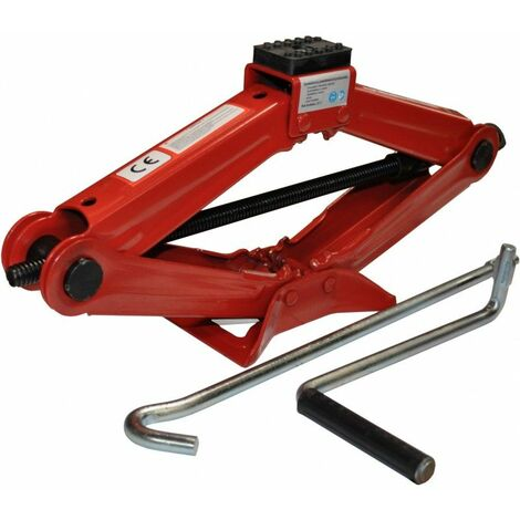 DCRAFT - Cric losange - Capacité de levage maximale 1.5 T - Hauteur 95-370 mm - Vérin de levage losange - Rouge