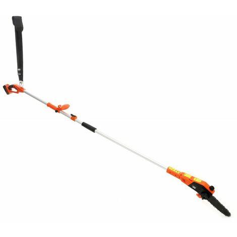 DCRAFT - Élagueuse sur perche réglable 230 cm à 300 cm - Guide 200 mm - Batterie 2000 mAh - Longueur de coupe 170 mm - Orange