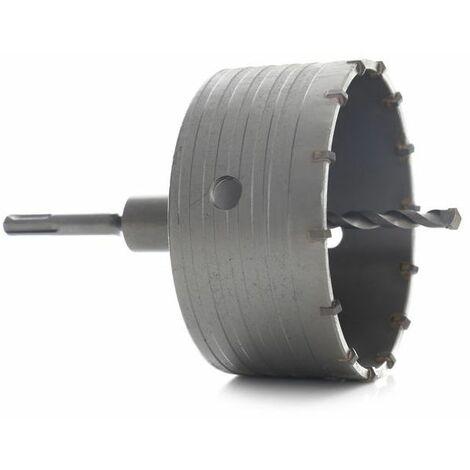 DCRAFT - Fraises à maçonnerie - 7 éléments - Tailles de 40 à 125 mm - Jeu de scies cloches pour la maçonnerie - Noir