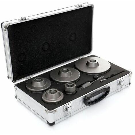 DCRAFT - Fraises à maçonnerie - 9 éléments - Tailles de 30 à 100 mm - Jeu de scies cloches pour la maçonnerie - Noir