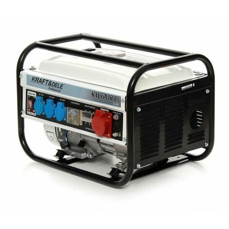 DCRAFT - Groupe électrogène de chantier - Puissance moteur 4,8 kW/6,5 CV - 4 prises - Tension 230 V - 380 V - Blanc