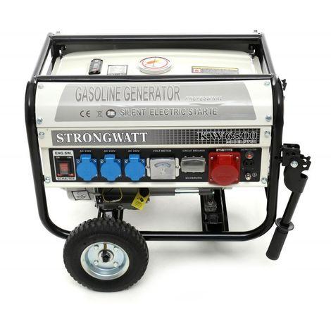 DCRAFT - Groupe électrogène - Puissance moteur 4,8 kW / 6,5 KM - Générateur portable chantier/camping - Blanc
