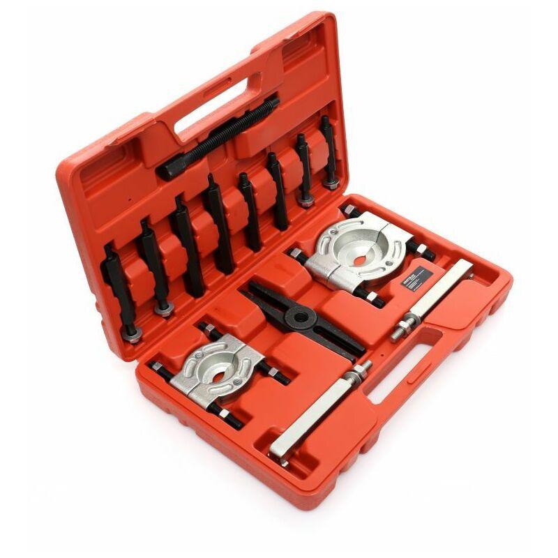 DCRAFT - Kit d'extracteurs de roulement - 14 outils - Pour extraire les roulements - Rouge