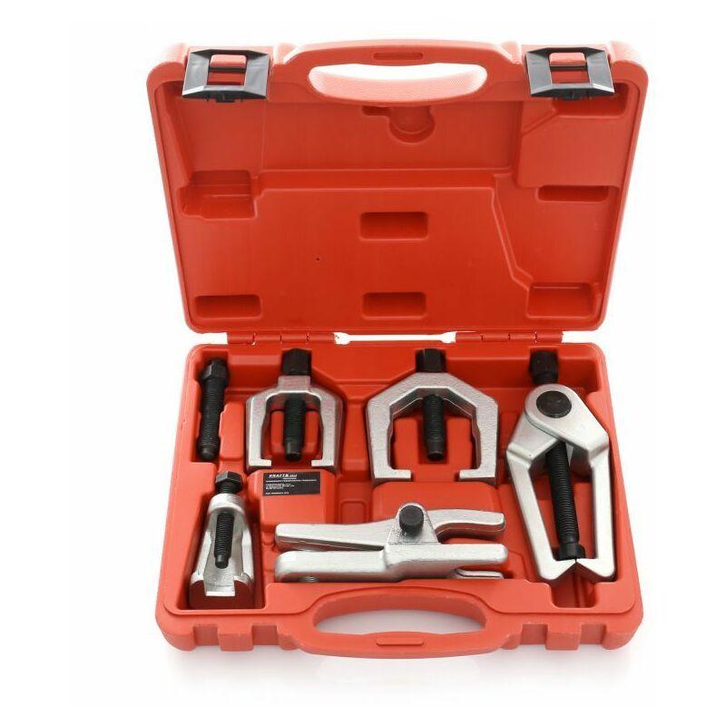 Hucoco - DCRAFT - Kit d'extracteurs de roulement - 5 outils - Pour extraire les roulements - Rouge