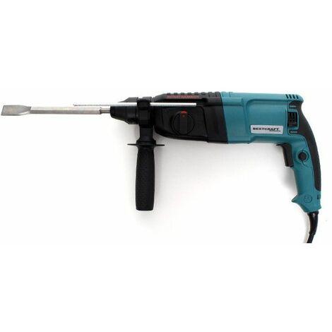 DCRAFT | Marteau perforateur Puissance 2650W Force de frappe 3.0J SDS+ Système Vario-Lock | Perforateur burineur chantier atelier | Noir/Bleu