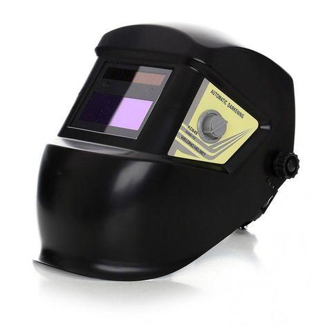 DCRAFT | Masque de soudage | Cagoule de soudage pour la soudure MMA + MIG + TIG | État d'éclaircissement 4 DIN | Protection 9-13 DIN - Noir