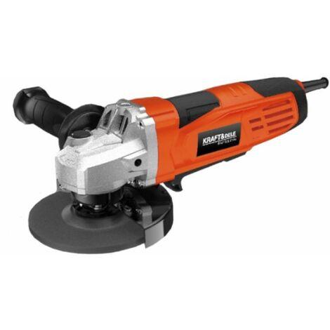 DCRAFT - Meuleuse d'angle électrique - Diamètre disque 125 mm - Puissance 1500W - Vitesse 12000 - Meuleuse filaire - Orange