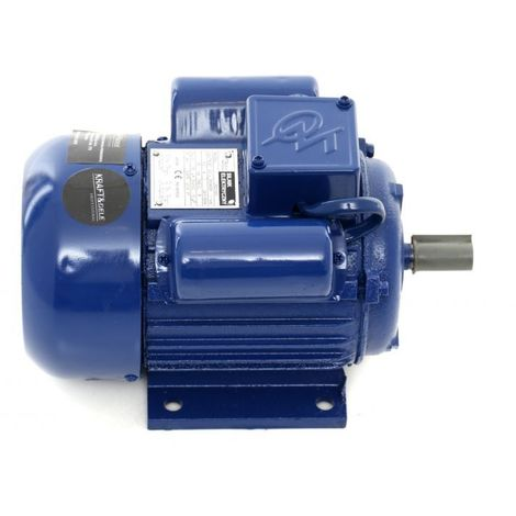 DCRAFT - Moteur électrique 220V 1100W 2810 tours/min 5.0 A - Moteur fonte pour machines industrielles - Bleu