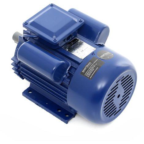 DCRAFT - Moteur électrique 220V 2200W 2800 tours/min 13.9 A - Moteur fonte pour pompes/broyeurs/scies/machines industrielles - Bleu
