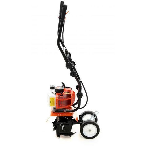 """main image of """"DCRAFT - Motobineuse à essence 52 cm³ - Puissance 3,9KW - Motoculteur thermique - Vitesse 8000 tours/ min - Orange"""""""