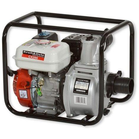 DCRAFT | Motopompe thermique débit 1000 L/min | Pompe à l'eau Essence eaux chargées/claires | Relevage d'eau Outillage Bricollage - Noir