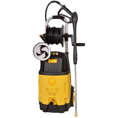 DCRAFT | Nettoyeur haute pression 2000 W 200bar Débit 6l/min | Nettoyeur hp voiture deux réservoirs de détergent | 2 roues poignée | Jaune/Noir