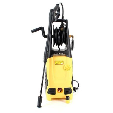 DCRAFT   Nettoyeur haute pression 2000 W Pression maxi 130bar Débit 6l/min   Nettoyeur hp voiture réservoir de détergent   2 roues   Jaune/Noir - Jaune/Noir