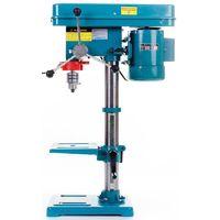 DCRAFT | Perceuse à colonne d'établi avec table Etau 1450 W 200/2700 tpm Perçage maxi 16mm | Perceuse sur colonne atelier chantier | Bleu vert