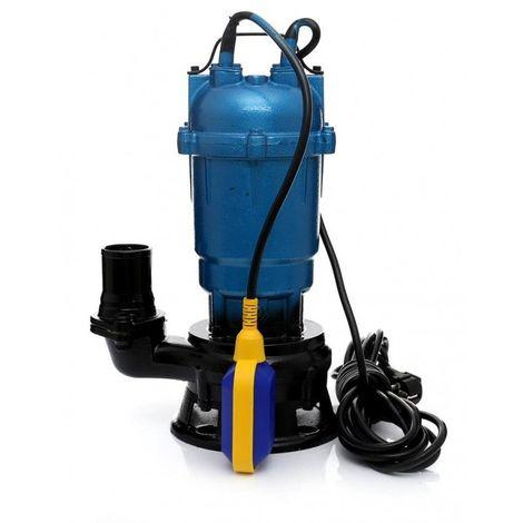 DCRAFT   Pompe d'évacuation submersible avec flotteur et broyeur    Puissance 2750W   Débit 21000l/h   Pompe de relevage eaux usées - Bleu - Bleu
