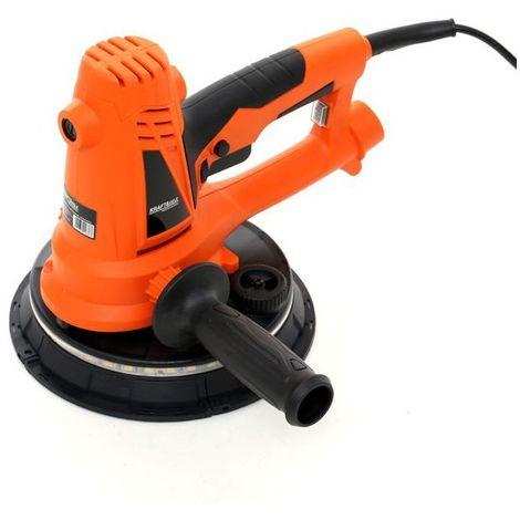 DCRAFT - Ponceuse à plâtre/gypse + LED - Puissance 1400W - Rotation à vide 1500-2700 rpm - Outillage électroportatif bricolage - Orange