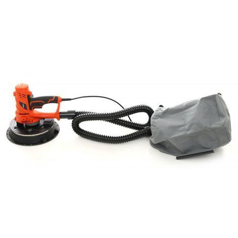 DCRAFT - Ponceuse à plâtre/gypse - Puissance 1500 W - Rotation à vide 2700 tr./min - Outillage électroportatif bricolage atelier - Orange