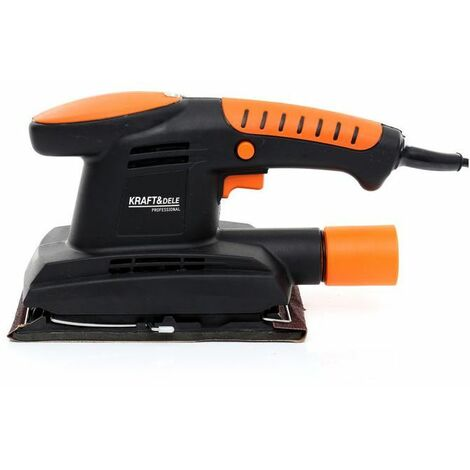 DCRAFT - Ponceuse vibrante - Puissance 450 W - Rotations 11 000 tr/min - Appareil bricolage - Outillage électroportatif - Orange