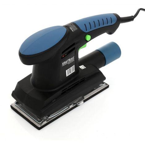 DCRAFT - Ponceuse vibrante - Puissance 450 W - Vitesse 11 000 tr/min - Appareil bricolage - Outillage électroportatif - Bleu