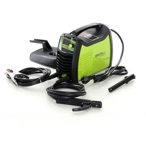 DCRAFT | Poste à souder à l'arc Inverter 300A MMA IGBT + PWM | Alimentation 230V | Ecran digital LCD | Compact léger portatif | Vert/Noir - Vert/Noir