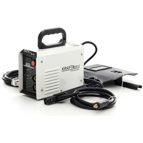 DCRAFT | Poste à souder à l'arc Inverter MMA 250A 230V IGBT Ecran LCD | Système Hot Start Arc Force Anti Stick | Compacte et mobile | Blanc/Noir - Blanc/Noir