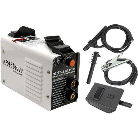 DCRAFT | Poste à souder à l'arc Inverter MMA 250A 230V IGBT | Système Hot Start Arc Force Anti Stick | Compacte et mobile | Blanc - Blanc