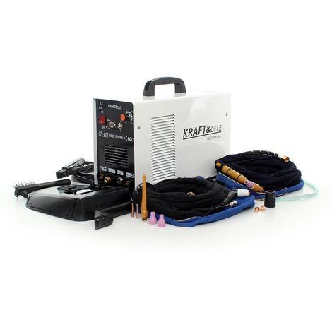 DCRAFT - Poste à souder combiné 3en1 Inverter 220-240V - Fonctions MMA TIC CUT - Soudage à l'arc ANTI STICK IGBT - Découpe PLASMA - Blanc/Noir
