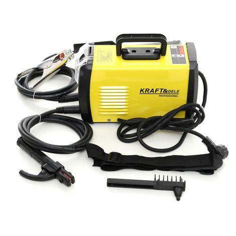 DCRAFT | Poste à souder Inverter IGBT 300A | Technologie PWM | Porte-électrode + pince de masse + masque de protection | Jaune - Jaune