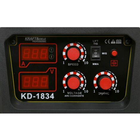 DCRAFT - Poste à souder Inverter - MIG/MAG + MMA +TIG-LIFT - Courant 20-240A - Tension 230V / 50Hz - Technologie IGBT - Jaune
