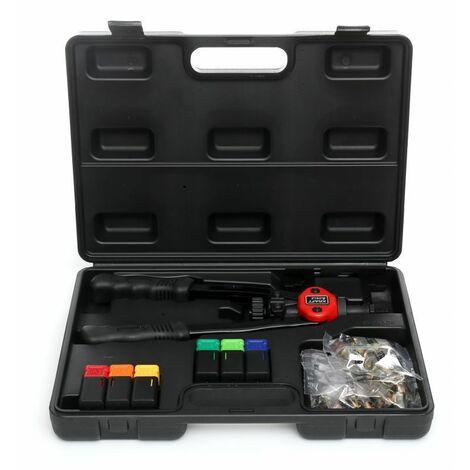 DCRAFT - Riveteuse manuelle pour écrous à sertir - 6 embouts interchangeables - 330 mm - Outil pour rivets aveugles - Noir