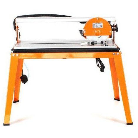 DCRAFT | Scie à carreaux sur table 600 W | Scie électrique de carrelage inclinable 45° | Coupe carreaux/carrelage Acier inoxydable | Orange